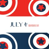 July 4th Independence Day. Stars, Circle Red, Blue White, Captain America Icon Background. For card, poster, Flyer, Greeting Vecto. R Illustration stock illustration