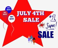 July 4th Super Sale Sign royalty free stock image
