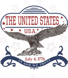 July 4th U.S. Independence Day Template with Eagle. Vector Illustration Royalty Free Stock Images