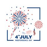 4 july USA independence day design on white background. Vector illustration Royalty Free Stock Image