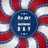 4 of July USA Independence Day greeting card. National flag card design. Stock Photos