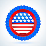 The 4 July Vector label Royalty Free Stock Image