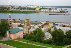 July view of colorful Nizhny Novgorod Stock Photos