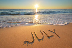 July word on sea Stock Images