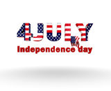 4 july. Words on the background vector illustration