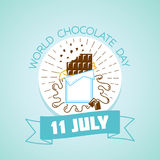 11 july   World Chocolate Day. Calendar for each day on july Royalty Free Stock Photography