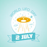 2 july World UFO Day Royalty Free Stock Image