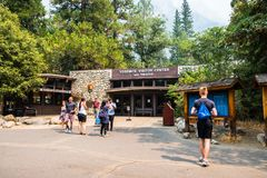 Exterior view of the Yosemite Visitor Center royalty free stock photo
