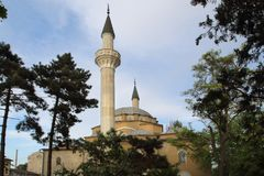 Juma Jami Mosque in Evpatoria town, Crimea. The Juma-Jami Mosque, also known as the Friday Mosque, built between 1552 and 1564, and designed by the famous stock image