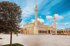 Juma moské, Samaxi Cume Mescidi, Shamakhi Arkivbilder