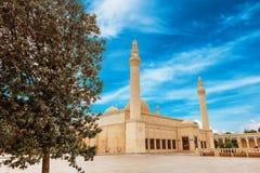 Juma Mosque, Samaxi Cume Mescidi, Shamakhi. Territory of Juma Mosque, Samaxi Cume Mescidi, in Shamakhi, Azerbaijan royalty free stock photo