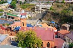 Jumah清真寺在Abanotubani区在老镇第比利斯 佐治亚 库存图片