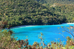 Jumbie Bay in St John Stock Image