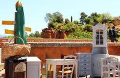 Jumble πώληση στη Roussillon, Γαλλία στοκ φωτογραφίες