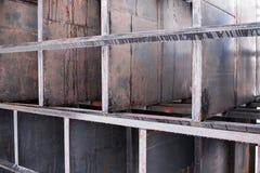 Jumble των σκουριασμένων σχεδίων μετάλλων στοκ φωτογραφία