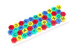 Jumble alphabets. Isolated on white background Stock Photo