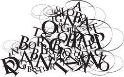 Jumble do Typography Imagens de Stock