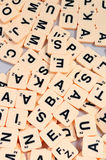 Jumble of letters Stock Image