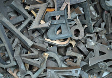 Jumble of letters Royalty Free Stock Photography