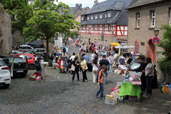 Jumble market in Germany Stock Photo