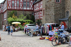 Jumble market in Germany Stock Photos