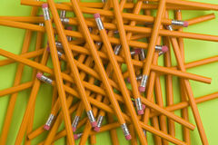 Jumble of pencils Stock Photography