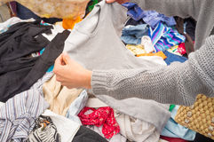 Jumble sale Royalty Free Stock Photo