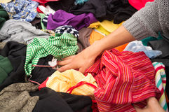 Jumble sale stall Royalty Free Stock Image