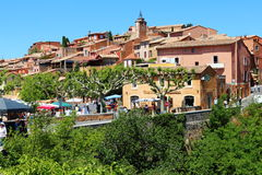 Jumble sale in village of Roussillon, France Royalty Free Stock Photography