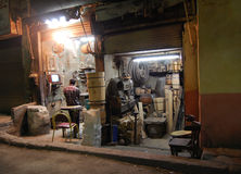 Jumble-shop of millworks in Cairo Royalty Free Stock Photos