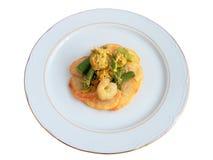 Jumbled garlic shrimp Royalty Free Stock Photos