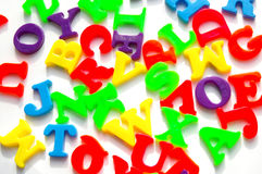 Jumbled letters royalty free stock image