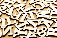 Jumbled wooden letter Stock Photography