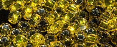 Jumbled Yellow Beads Royalty Free Stock Image