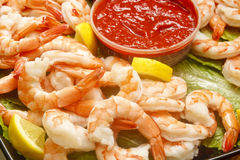 Jumbo Cooked Shrimp Royalty Free Stock Image