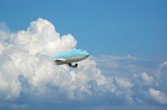 Jumbo dal cielo Fotografia Stock