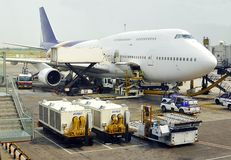 Jumbo de Boeing 747 Imágenes de archivo libres de regalías