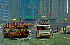 Jumbo drijvend restaurant, Hongkong Royalty-vrije Stock Afbeelding