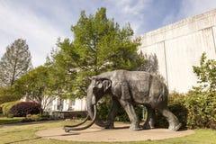 Jumbo the Elephant at the Fair Park, Dallas, Texas. DALLAS, USA - APR 8: Statue of Jumbo the Elephant at the Science Place of the Fair Park in Dallas. April 8 stock photo