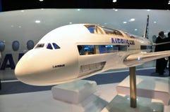 Jumbo estupendo de Airbus A380 en Singapur Airshow Foto de archivo libre de regalías