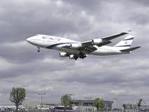 jumbo för flygbolagisrael stråle Royaltyfria Bilder