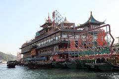 Jumbo Floating Restaurant. In Hong Kong Aberdeen. Photo taken at 5th of December 2010 Stock Photo