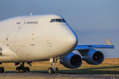 Jumbo-jet immagine stock
