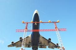 Jumbo Jet. Landing in Toronto Stock Images