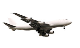 Jumbo jet airplane Stock Images
