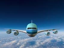 Jumbo Jet Airplane Flying Illustration Stock Photography