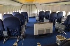 Jumbo jet business class Royalty Free Stock Photo