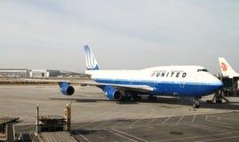 Jumbo-jet del United Airlines Boing 747 Fotografia Stock Libera da Diritti