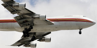 Jumbo jet in flight Stock Photos