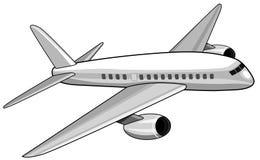 Jumbo jet flying Stock Images
